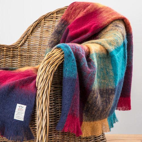 Avoca Harriet Mohair Throw Woven in the Avoca Mill in Ireland