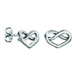Calvin Klein Silver Charming Stud Earring Ladies Klein