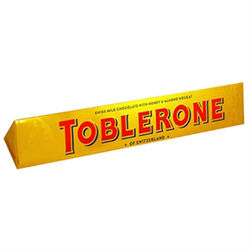 Toblerone Milk Chocolate Tube Gold  360g