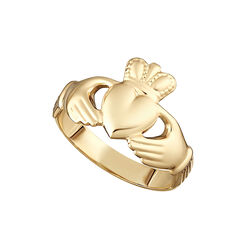 Solvar  9K Hallow Back Maids Claddagh Ring