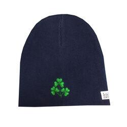 Irish Memories Navy Shamrock Knitted Hat