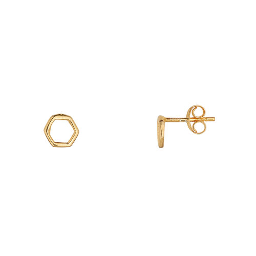 Juvi Designs Causeway Collection Studs In Gold Vermeil  One Size