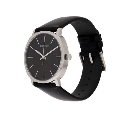 Calvin Klein K8Q311C1 Posh Leather Strap Watch Mens Silver