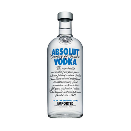 Absolut Swedish Vodka  Original 1L Bottle