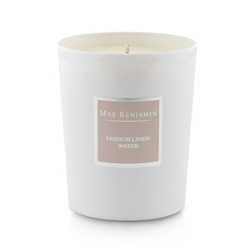 Max Benjamin French Linen Water  Luxury Natural Candle Soft Floral