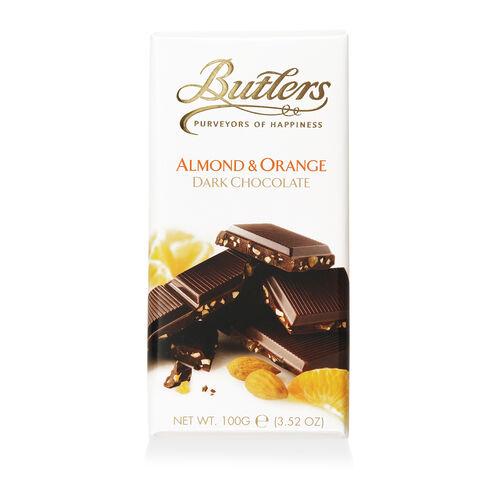 Butlers 100g Dark Almond & Orange Bar