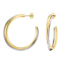 Calvin Klein Yellow Gold Double Earring Ladies Klein