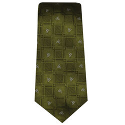 Patrick Francis Green Celtic Knot Silk Tie