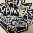 Guinness Guinness Cream And Black Long Sleeve Rugby Shirt  M