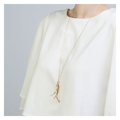 Inner Island Namara Large Fringe Necklace Gold