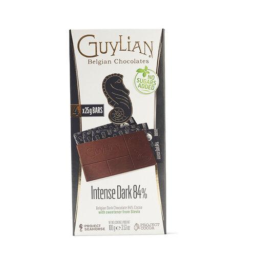 Guylian Belgian Intense Dark 84% NSA Bar  4x25g