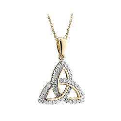 Solvar 14K Diamond Trinity Pendant