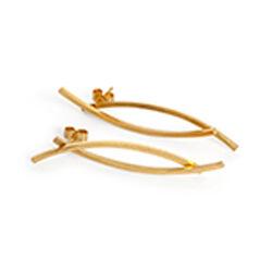 Inner Island Namara Double Earrings Gold