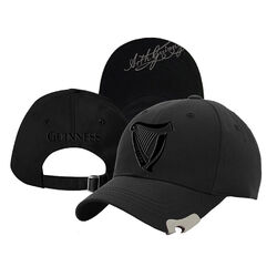 Guinness Guinness Black Baseball Cap With Black Harp Embroidery