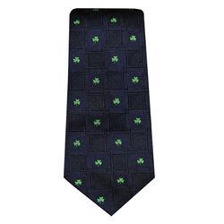 Patrick Francis Navy Shamrock Silk Tie