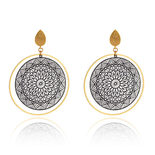 Scribble and Stone Black Moroccan Discs Earrings
