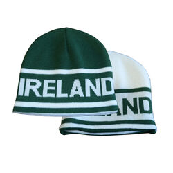 Lansdowne Kids Green White Reversible Kids Knit Hat