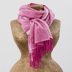 Avoca Cashmere Wool Blend Sandymount Scarf in Pink
