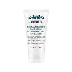 Kiehls Richly Hydrating Hand Cream Coriander 75ml