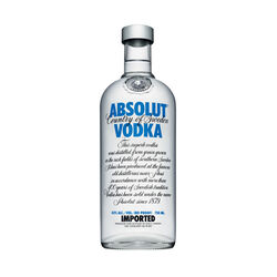 Absolut Swedish Vodka  Original 1L Bottle