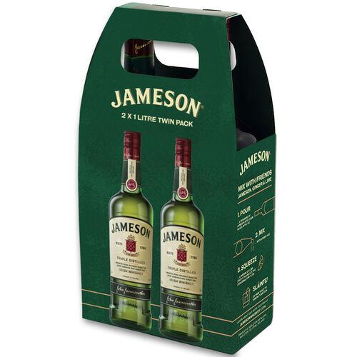 Jameson Original Irish Whiskey Ireland Twin Pack  1ltr