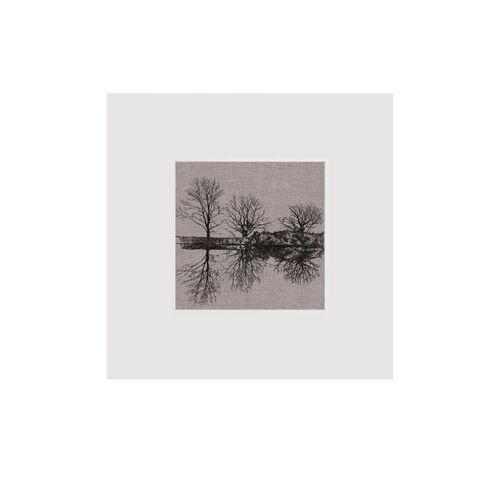 Martina Scott Reflection, Three Trees Mounted  29.5x29.5cm