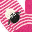 Traditional Craft Kids Pink/White Flaherty Flock Kids Mittens   1/3