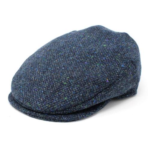 Hanna Hats Vintage Cap Tweed Navy & Aqua Salt & Pepper