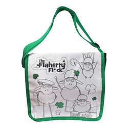 Traditional Craft Kids White/Green Flaherty Flock Colour Me Bag  One Size