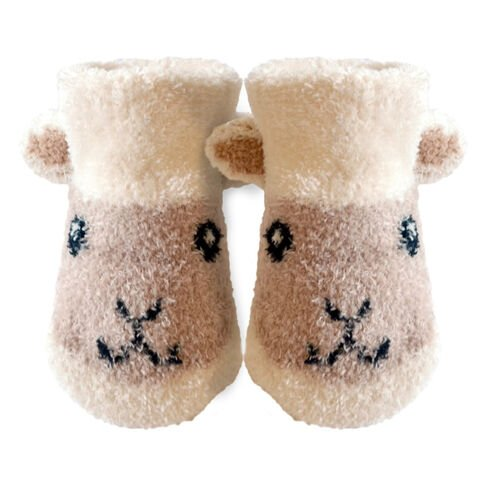 Patrick Francis Cream Baby Sheep Booties