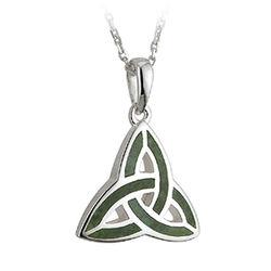 Solvar S/S Marble Trinity Pendant