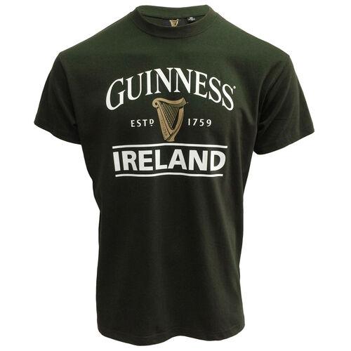 Guinness Irish Memories Bottle Green Embroidered Ireland T-Shirt