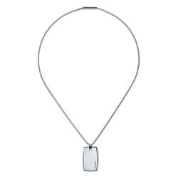 Calvin Klein Silver Straight Necklace Ladies Klein