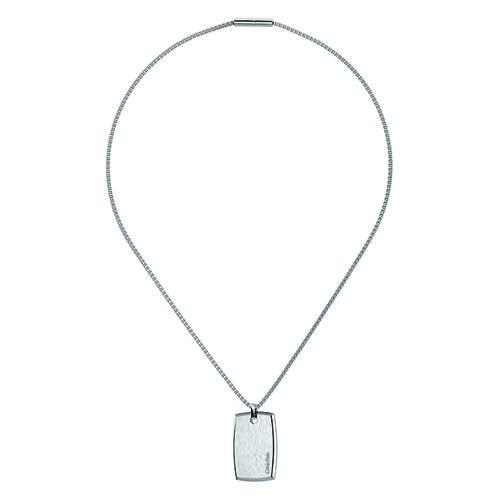 Calvin Klein Silver Straight Necklace Ladies Klein