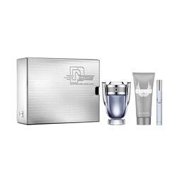 Paco Rabanne Invictus Eau De Toilette 100ml & Shower Gel & Travel Spray Christmas Set