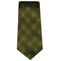 Patrick Francis Green Celtic Knot Silk Tie
