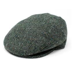 Hanna Hats Vintage Cap Tweed Dark Green Fleck Salt & Pepper