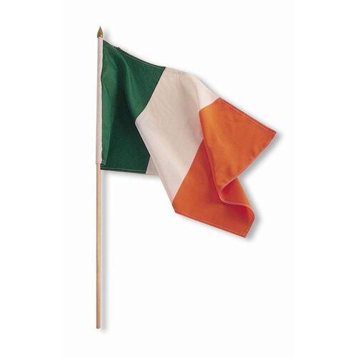 """Souvenir Ireland Flag on a Stick 12"""" X 18"""""""