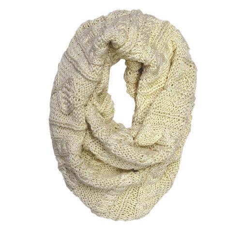 Patrick Francis Cream Aran Knitted Snood