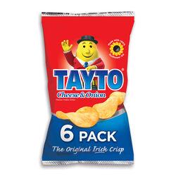 Tayto Tayto Cheese & Onion Flavour Potato Crisps 6 Pack 150g