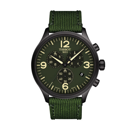 Tissot T1166173709700 Chrono Xl Green Dial Gents 45mm