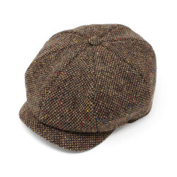 Hanna Hats JP Cap Tweed Brown Fleck Salt & Pepper