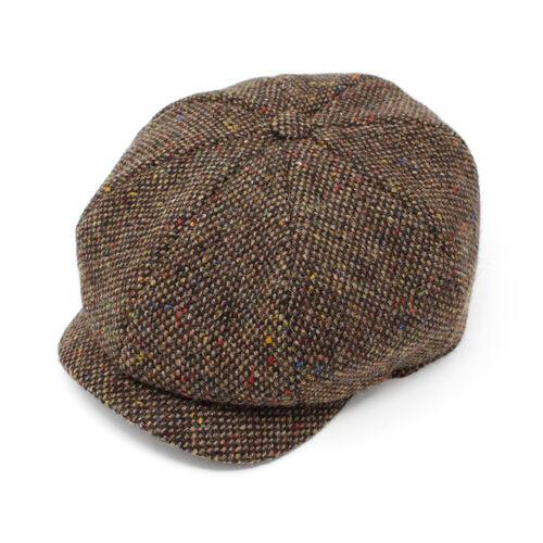 Hanna Hats JP Cap Tweed Brown Fleck Salt & Pepper