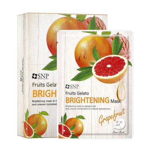 SNP Face Masks Fruits Gelato Brightening Mask x10 250ml