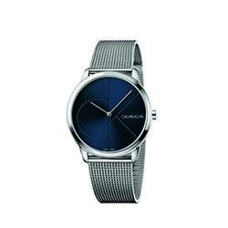 Calvin Klein Minimal Mesh Strap Watch Mens Silver
