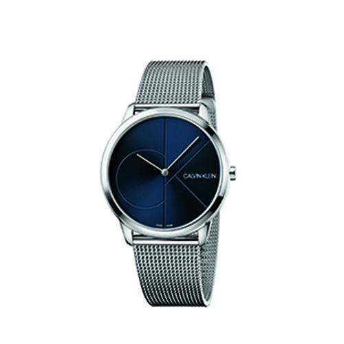 Calvin Klein K3M2112N Minimal Mesh Strap Watch Mens Silver