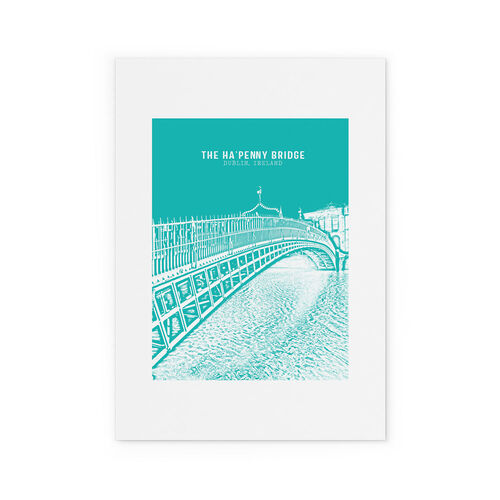 Jando  Landmark Ha'Penny Bridge Small Print A4