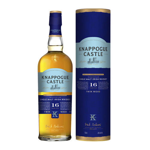Knappogue Castle 16yr Old Twin Wood Single Malt Irish Whiskey 70cl