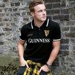 Guinness Guinness Black And White Stripe Collar Polo Shirt  XXL