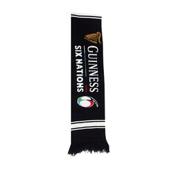 Guinness Black 6 Nations Knit Scarf  One Size